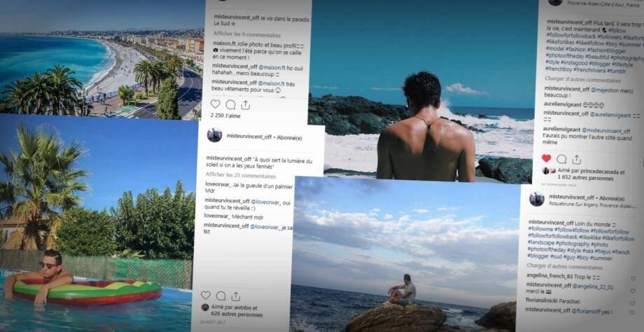 """Les photos de Vincent récoltent des milliers de """"likes"""" sur Instagram. Comme cadre de ses photos, les paysages du Var, de Saint-Raphaël à Fréjus en passant par Roquebrune-Sur Argens."""