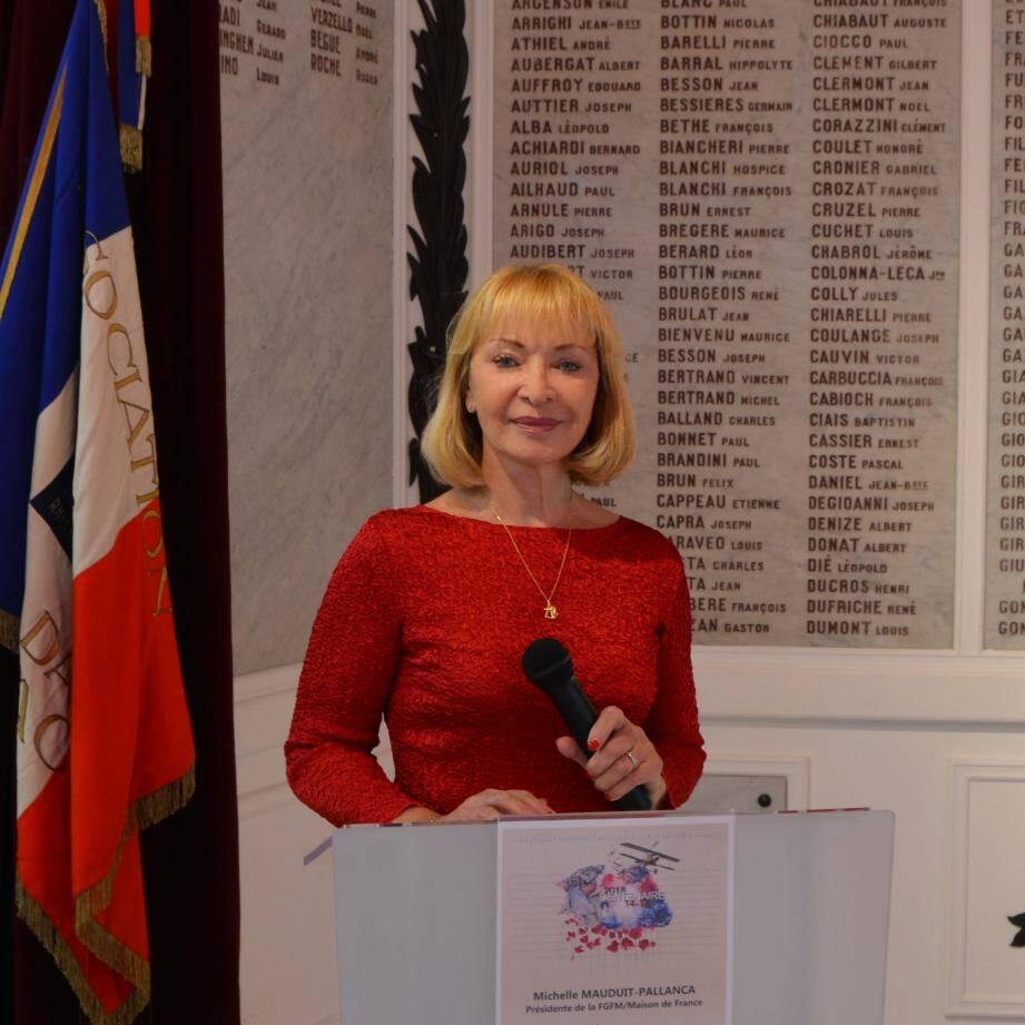 Michelle Mauduit-Pallanca, présidente de la Fédération des groupements français de Monaco.