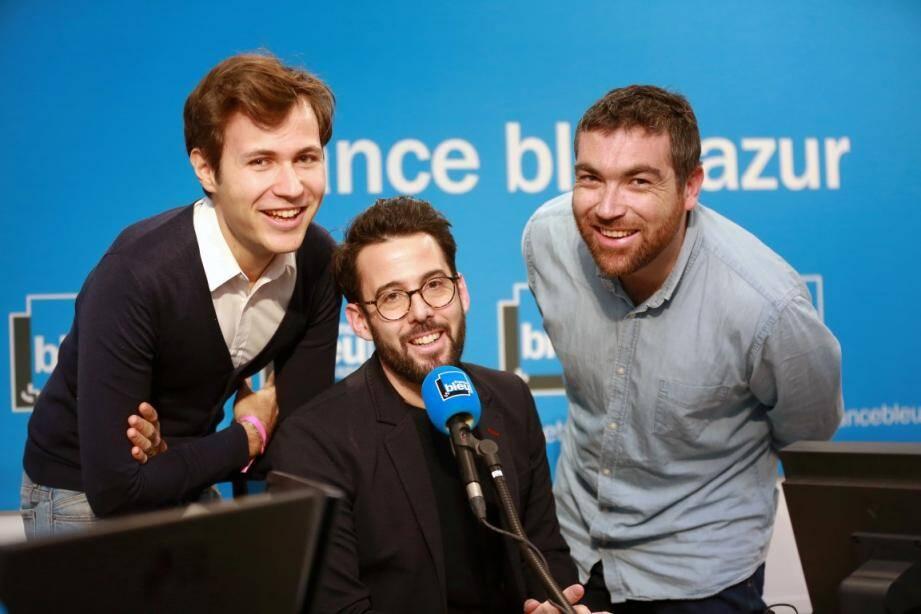 Souriez, vous êtes filmés! On retrouvera désormais le trio de la matinale de France Bleu Azur chaque matin sur France 3 Côte d'Azur.