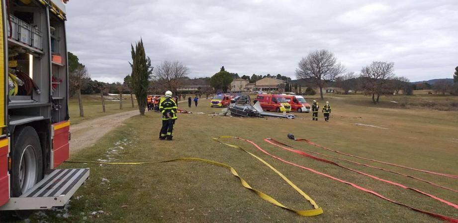 L'hélicoptère s'est écrasé à 200 mètres de l'accueil du golf.