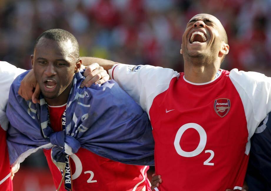 Patrick Vieira et Thierry Henry ont presque tout gagné en Angleterre.