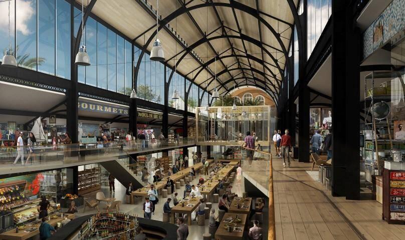 La hall de la gare du Sud devrait être inaugurée en mai.