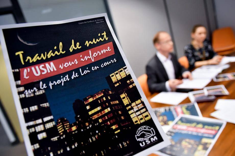 La méthode de concertation a déjà été utilisée pour le projet de loi sur le travail de nuit. L'Union des syndicats de Monaco n'est pas satisfaite des résultats de la concertation, et ne souhaite pas reproduire l'expérience.