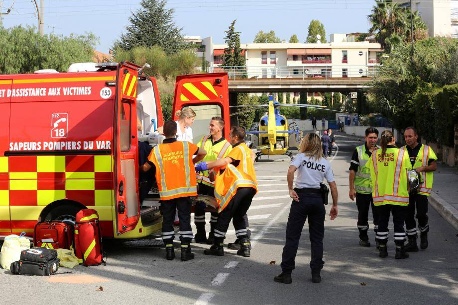 Un accident à Fréjus en octobre dernier.
