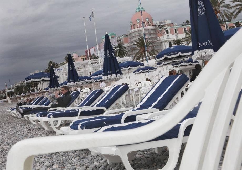 Grisaille et averses sur le littoral de la Côte d'Azur.