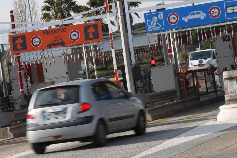 La hausse est de 10 centimes aux péages d'Antibes et de La Turbie à partir du 1er février.
