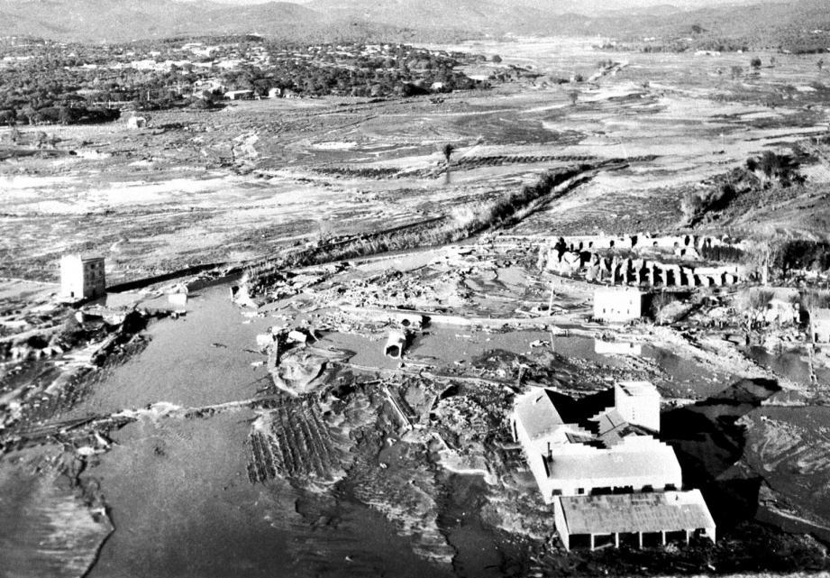 La catastrophe de Malpasset, en 1959.