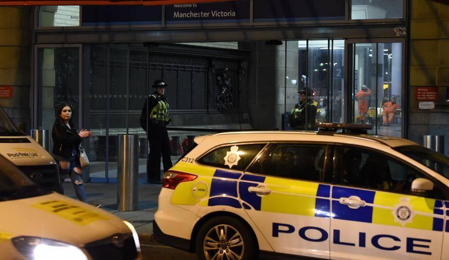 Des voitures de police à Manchester.