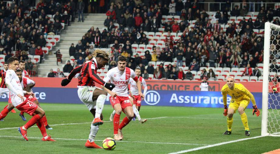 Allan Saint-Maximin a été virevoltant avec l'OGC Nice.