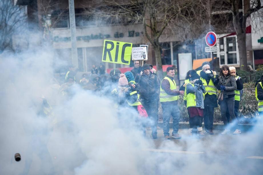 Manifestation des gilets jaunes perturbée ce samedi à Paris.