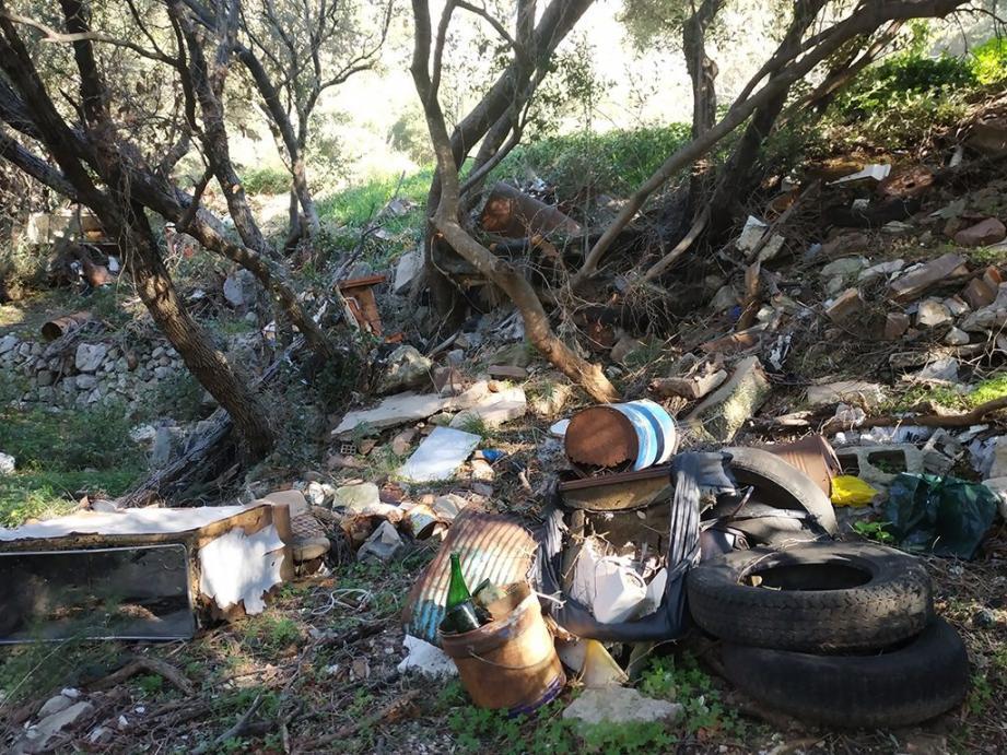 Un dépôt sauvage de détritus a été constaté dernièrement par nos soins à proximité dela route empruntée par les marcheurs et cyclistes. Hier, la Ville a nettoyé la zone en urgence