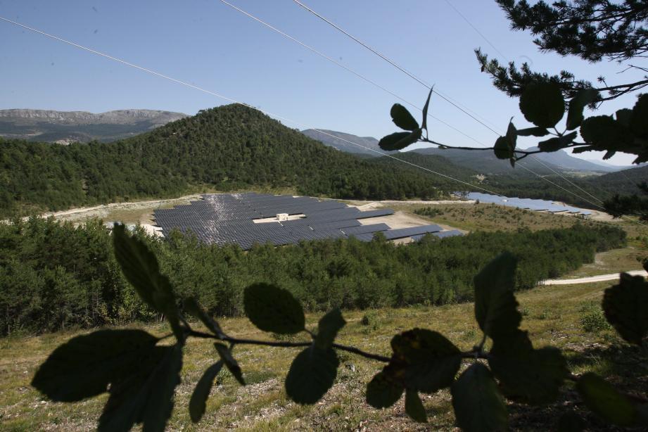 Une première centrale photovoltaïque a été installée en 2012 sur la commune de Valderoure.(Illustration archives Nice-Matin)