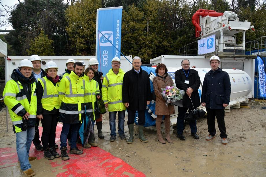 Hier, le microtunnelier de la nouvelle station d'épuration, a été baptisé.