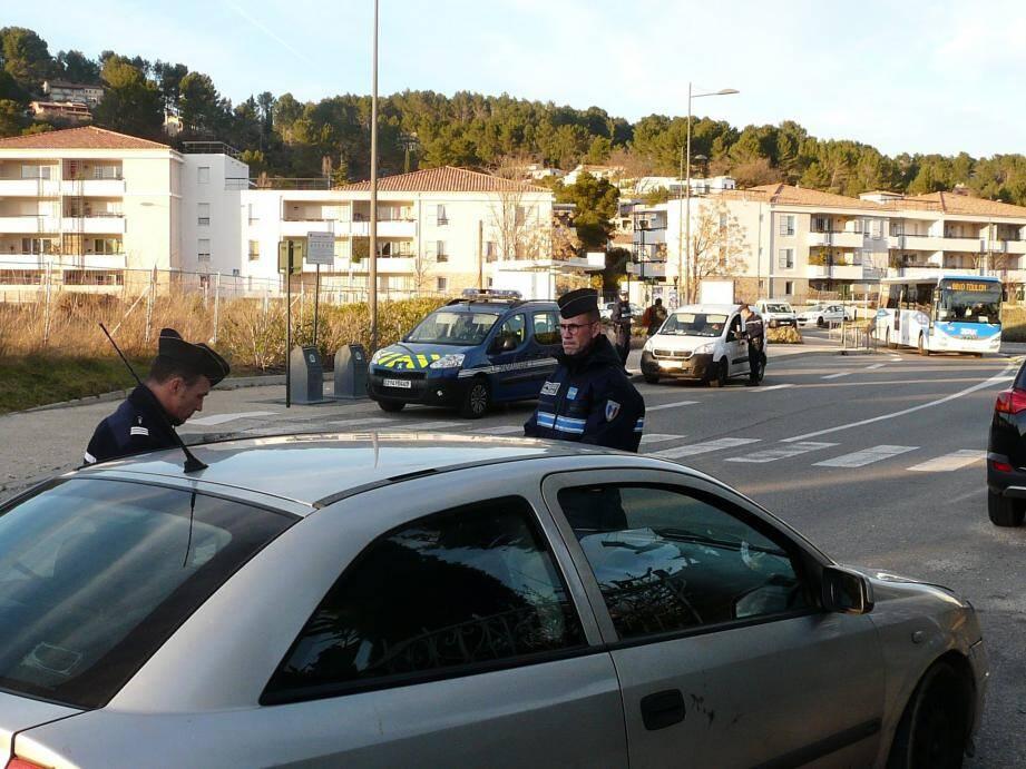 Pour lutter contre la délinquance routière, un contrôle alcoolémie a été mis en place jeudi.