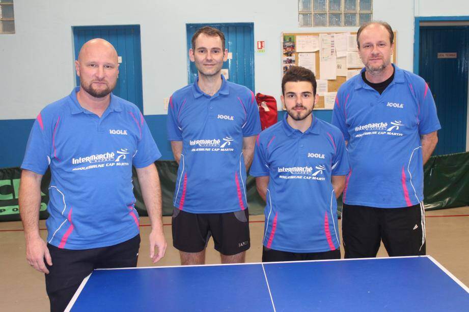 L'équipe 1 avec de gauche à droite : Arnaud Manfredi, Jean-Jacques Batfroi, Luca Carenso et Hervé Manfredi.(DR)