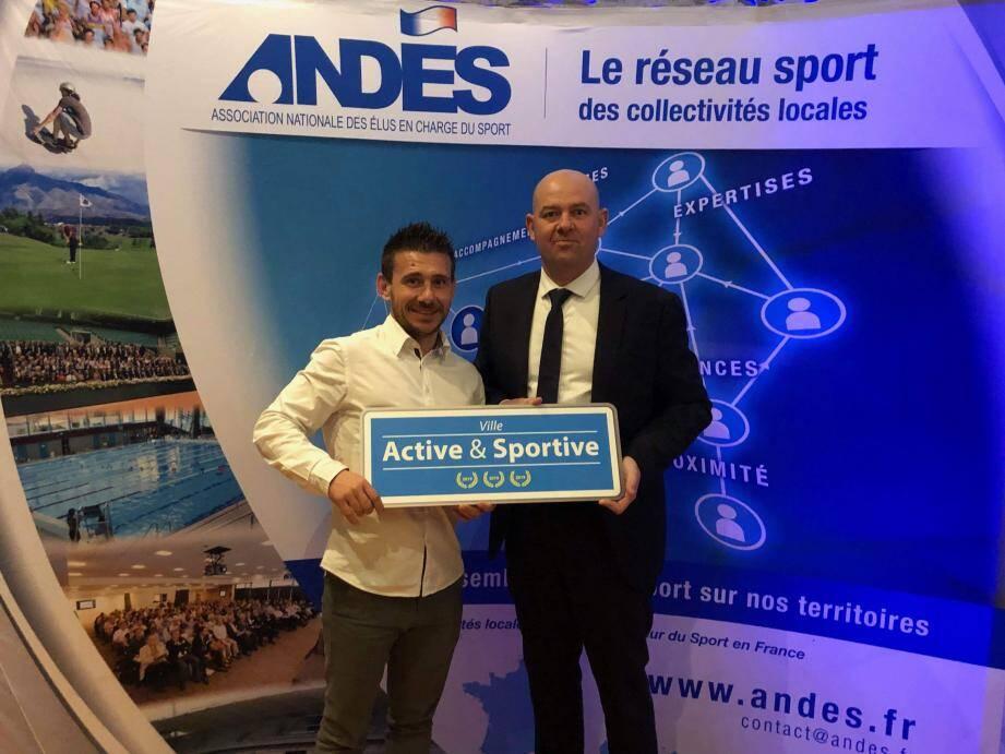 La commune a reçu le label «Ville active et sportive», niveau trois lauriers.