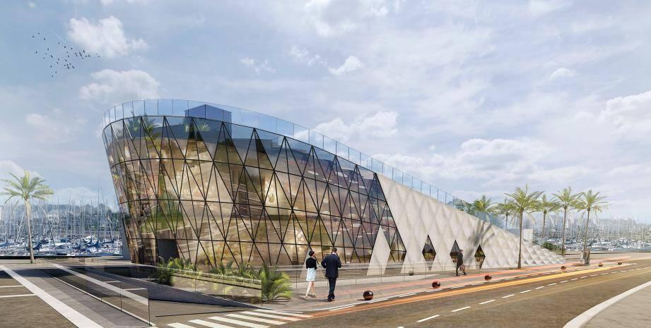 Le croquis de la future maison de la mer.(Dessin d'architecte)