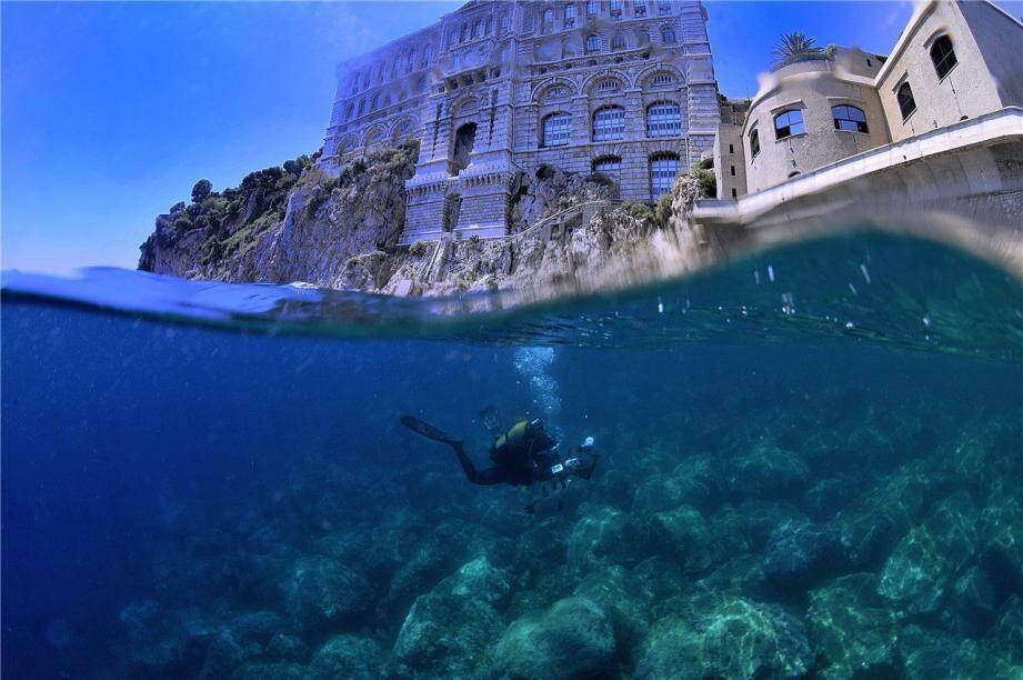 Jean-Lou Ferretti hérite du 3e Prix pour sa photo « Mi air-mi eau Monaco ».