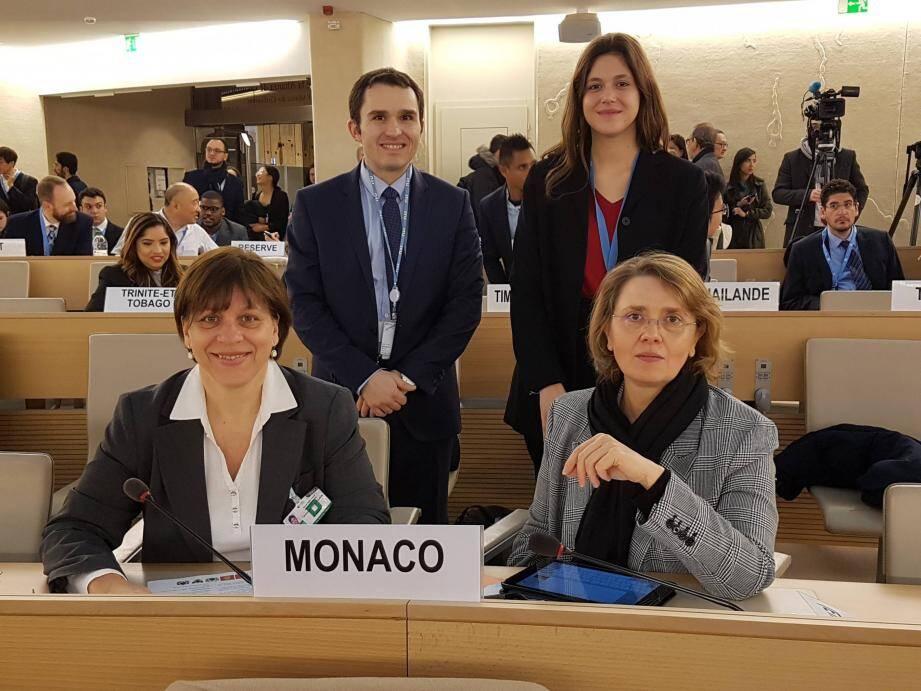 La délégation monégasque à Genève.(DR)