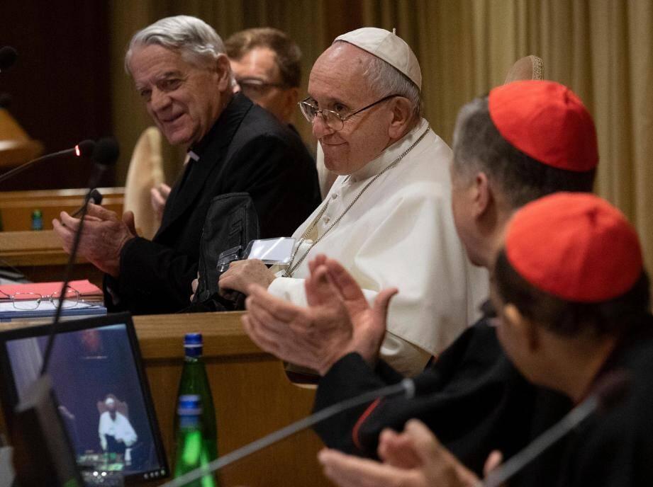 Le pape François lors d'un sommet au Vatican contre la pédophilie.
