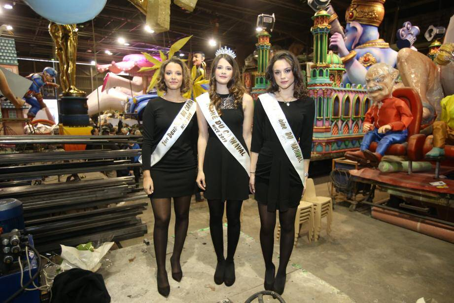 La Reine du Carnaval de Nice 2019 et ses deux dauphines.