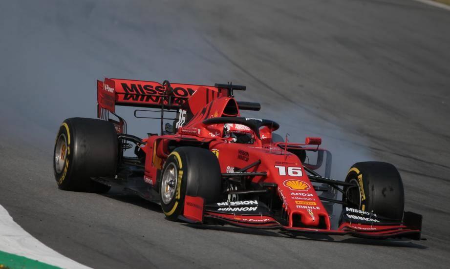 Charles Leclerc et la Ferrari SF90, premier galop réussi!