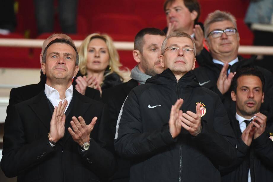 Oleg Petrov et Dmitry Rybolovlev ont assisté en tribune au match contre Nantes (1-0).