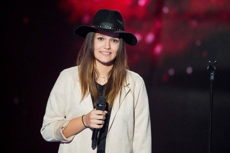 Laureen lors des auditions à l'aveugle.