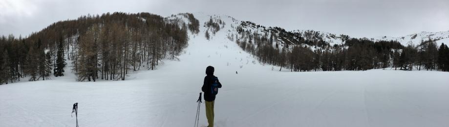Deux coulées de neige successives s'étaient déversées en amont du clôt Pascal.