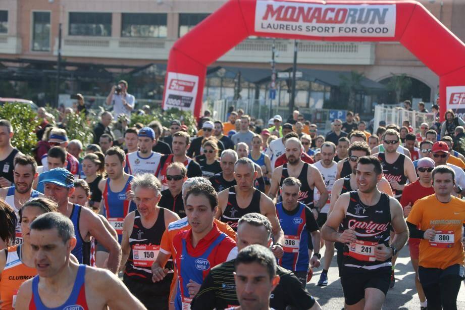 Monaco le 17/02/2019 - Course Monaco Run avec un départ donné sur le port Hercule - Victoire chez les hommes de WANDERS, 2eme ZALEWSKI, 3eme PAL. Victoire chez les femmes de HASSAN, 2eme WEIGHTMAN, 3eme MOLLER.