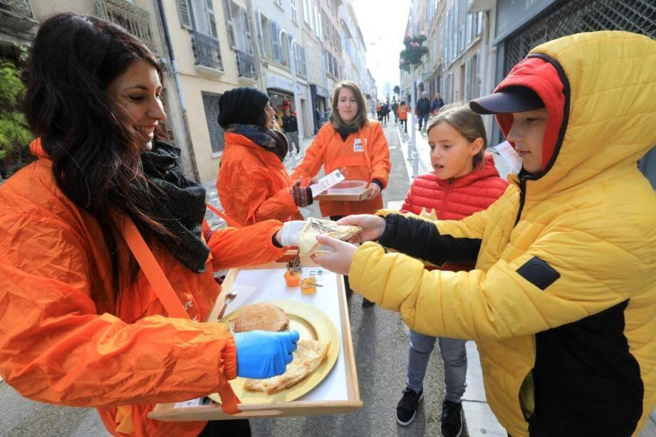 Les petits Toulonnais ont apprécié la crêpe vegan.