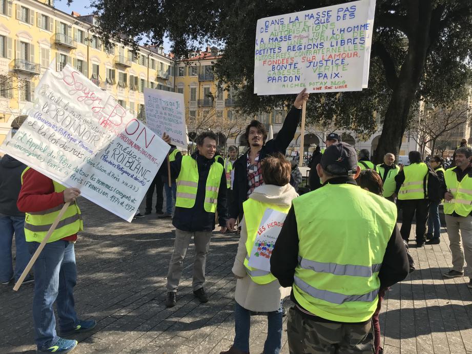 """Une manifestation des """"gilets jaunes"""" place Garibaldi à Nice (image d'illustration)."""