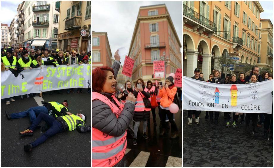 Plusieurs manifestations se sont déroulés à Nice samedi 2 février.