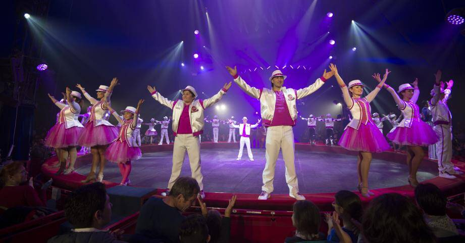 Le spectacle du cirque Gruss en 2018 à Cabris.