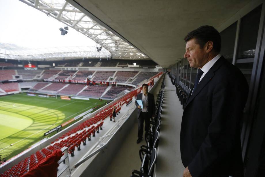 Christian Estrosi à l'Allianz Riviera, le stade de Nice.