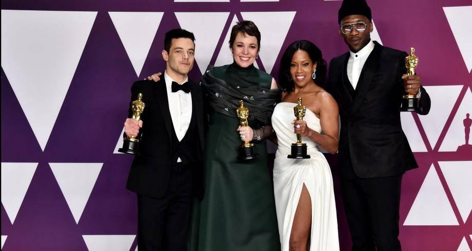 Rami Malek, Olivia Colman, Mahershala Ali et Regina King, les quatre acteurs et actrices récompensés aux Oscars.