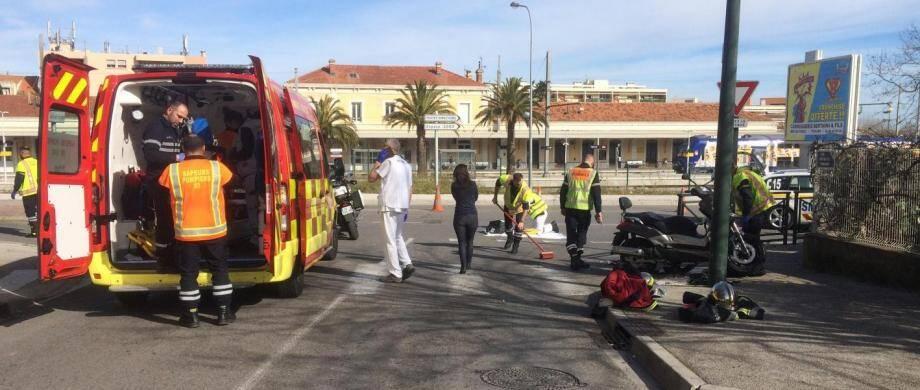 Un grave accident suivi d'un délit de fuite est survenu ce vendredi à la mi-journée à Hyères.