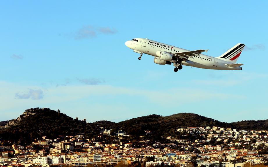 Illustration d'un avion Air France.