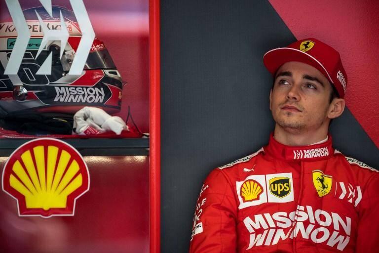 Charles Leclerc au Grand Prix de Bahreïn.