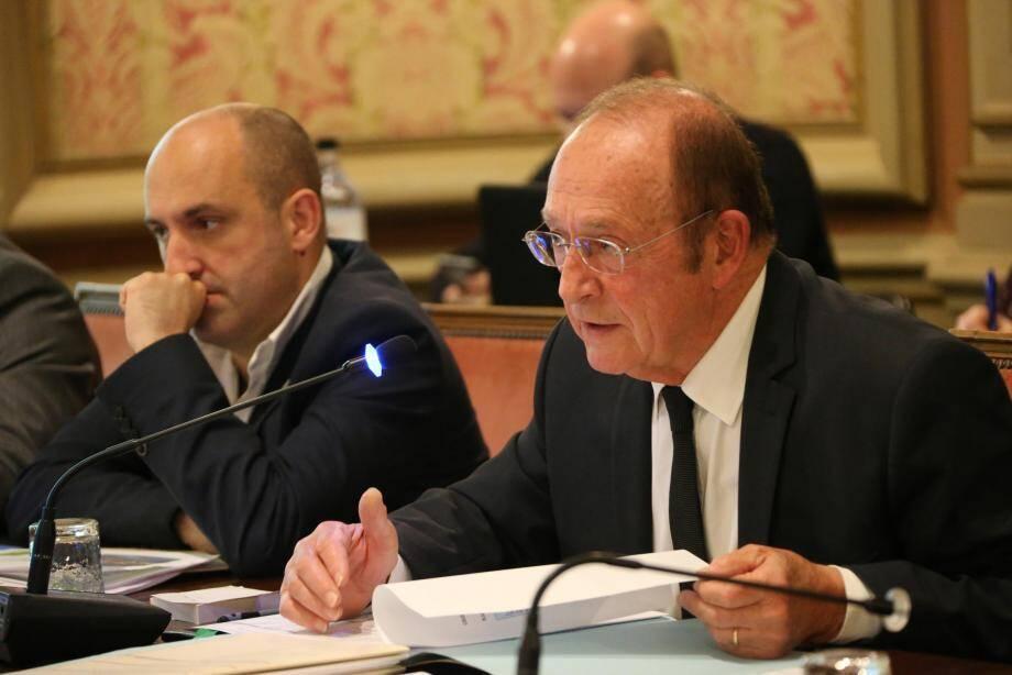 Le maire Jean-Claude Guibal et son premier adjoint, Nicolas Amoretti.