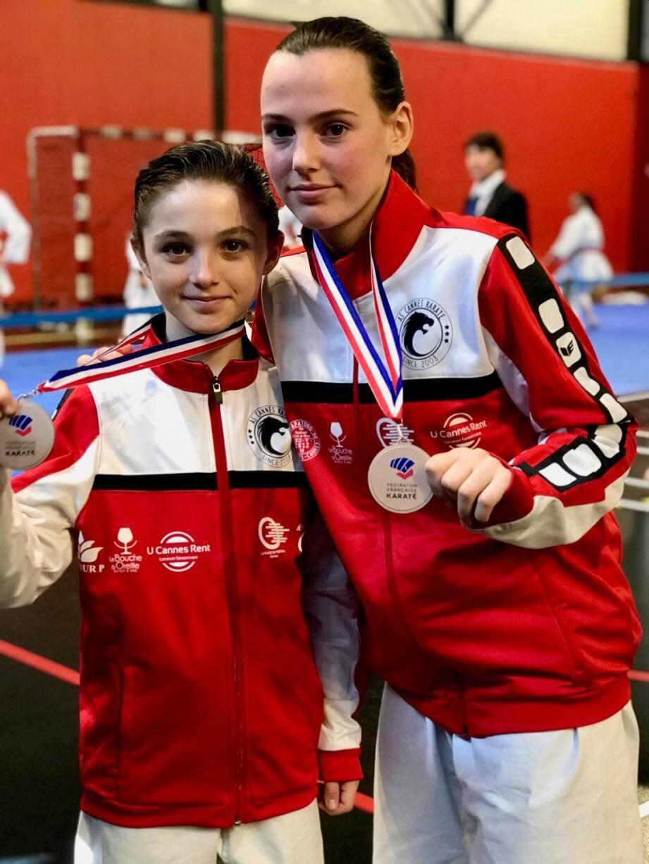 Elie Ayache et Rosalie Lucas, médaillés de l'AS Cannes Karaté.DR