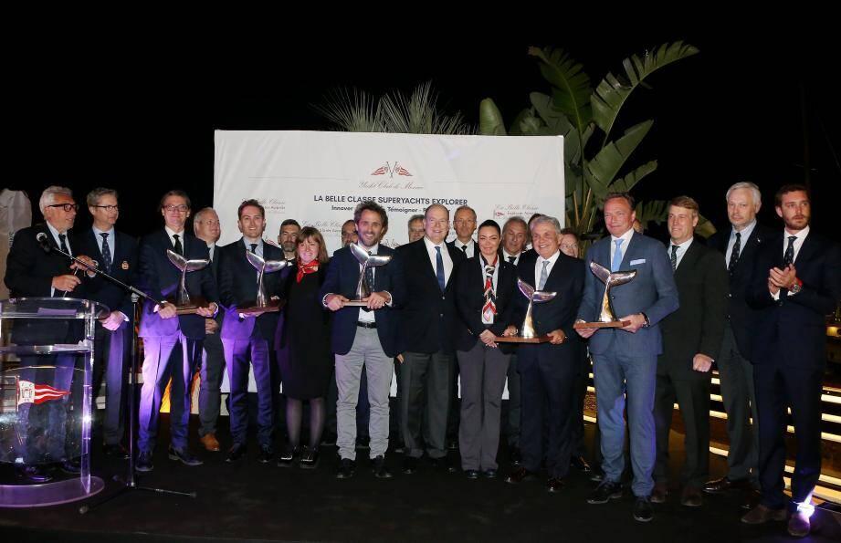Le prince Albert II a participé à la remise des premiers Explorer Awards du Yacht-club.
