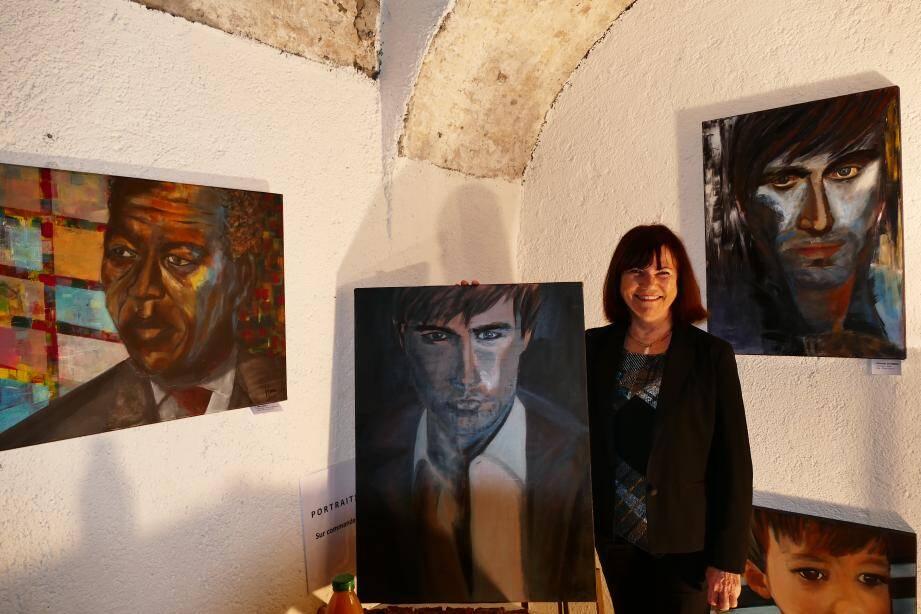 Madeleine Mayen-Leize, peintre invitée de l'atelier éphémère du boulevard d'Aguillon.