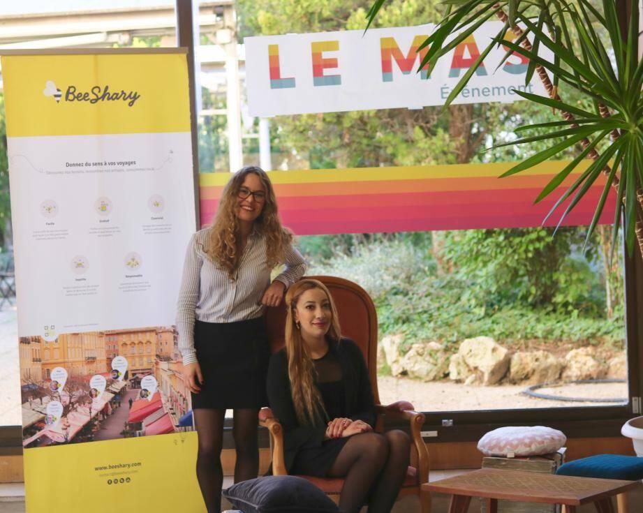 Clara Baglione et Houda Behidji, fondatrices de Bee Shary - Le MAS Nice-Matin