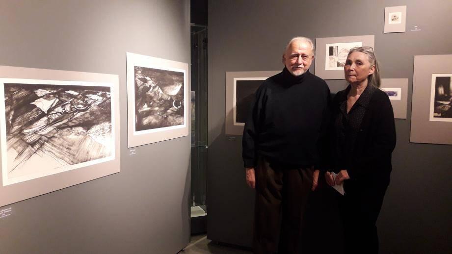 Jacques Guimet et Annie Warnier vendredi à la Villa Saint-Hilaire.