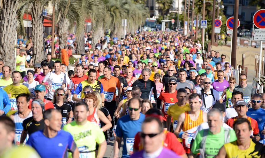 Près de 4000 coureurs vont prendre le départ ce matin du semi-marathon de Cannes.