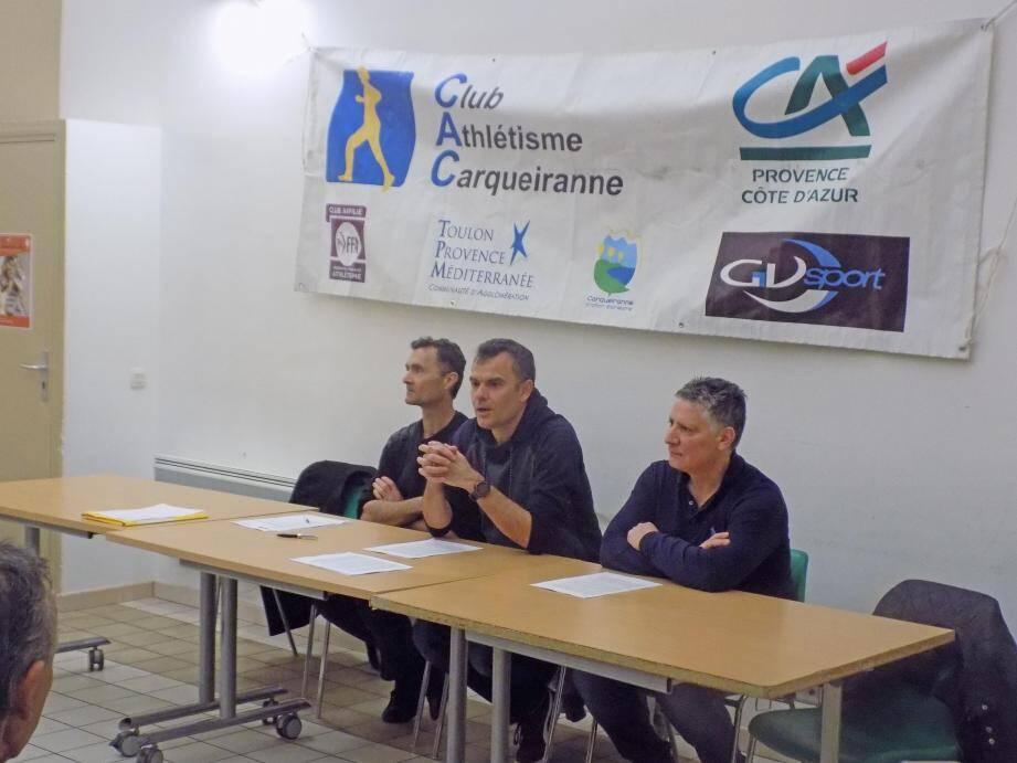 François Boulagnonle, Yannick Drux et Patrick Carasco.