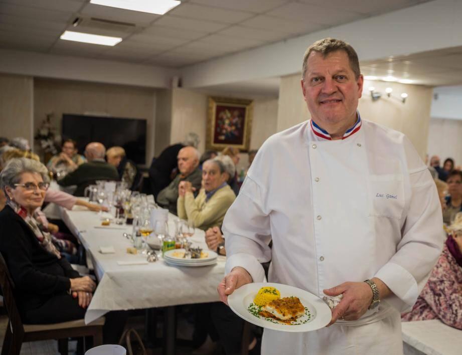 Luc Gamel a préparé un succulent repas aux usagers du CCAS. (DR)