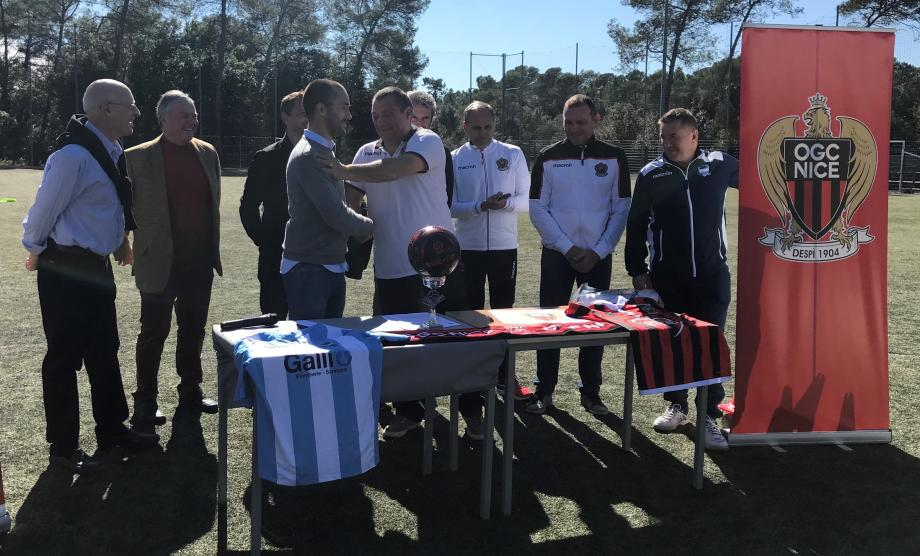 Le club amateur est devenu le 43e du département à signer une convention de partenariat avec le Gym.