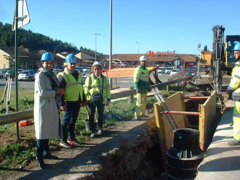 Margaux Di Donna en visite de chantier.